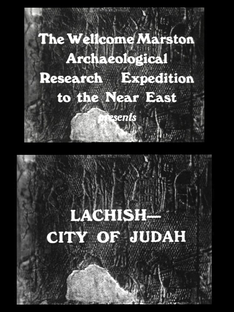 Still showing the opening titles of Lachish – City of Judah. Courtesy UCL Institute of Archaeology.