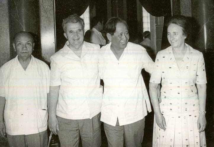 Le Duan and Trường Chinh with Nicolae and Elena Ceaușescu, May 1978.