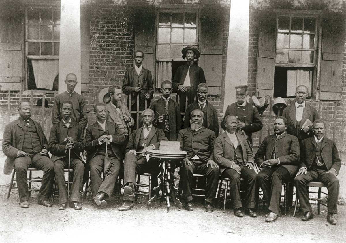 Members of the Liberian Senate, mostly comprising freed African American slaves, 1893 © Corbis/Getty Images.