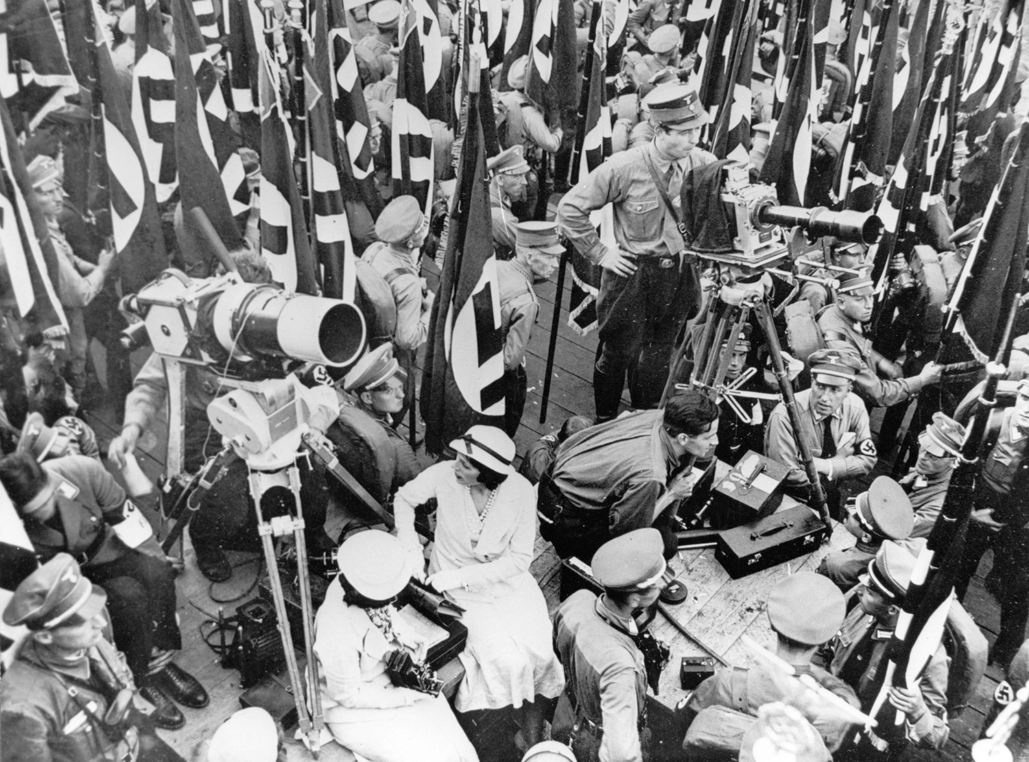 Leni Riefenstahl directing Triumph of the Will, 1934.