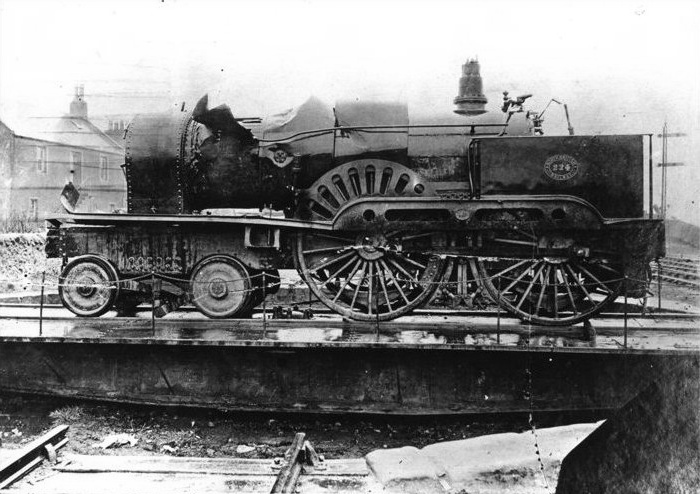 North British Railway locomotive 224 recovered from the water after the Tay Bridge disaster in December 1879