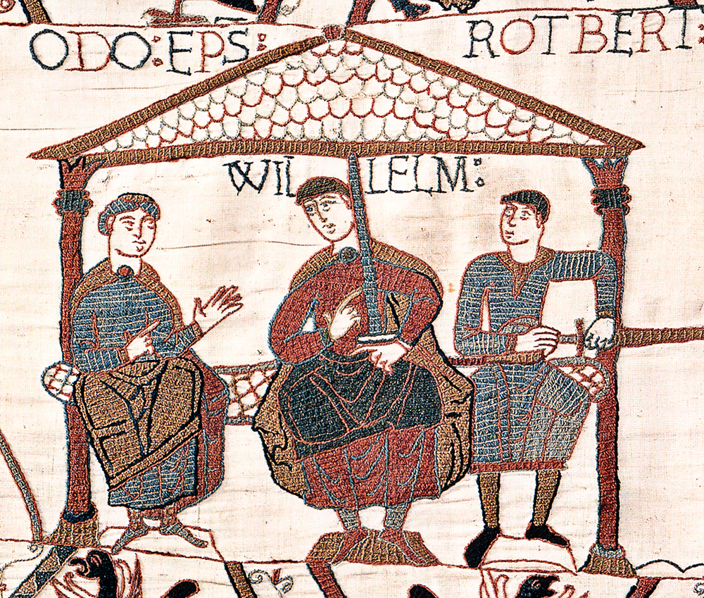 William (centre) with his half-brothers, Odo (left) and Robert (right).