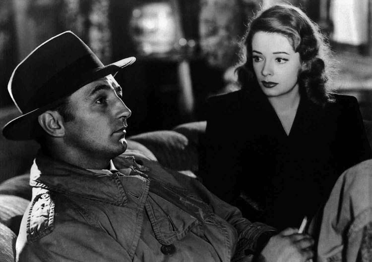 Robert Mitchum and Jane Greer in Out of the Past, 1947.