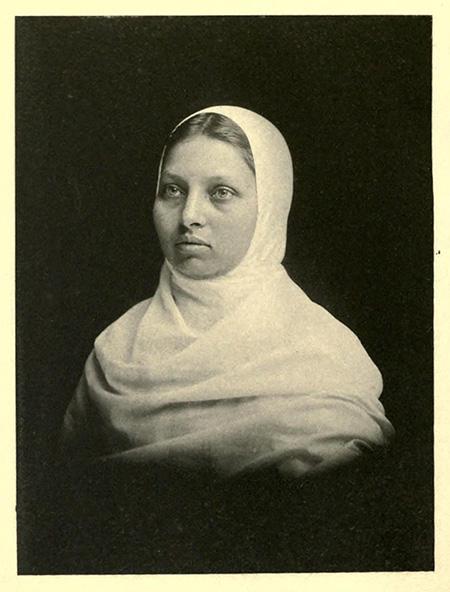 Portrait of Pandita Ramabai Sarasvati, c.1887.