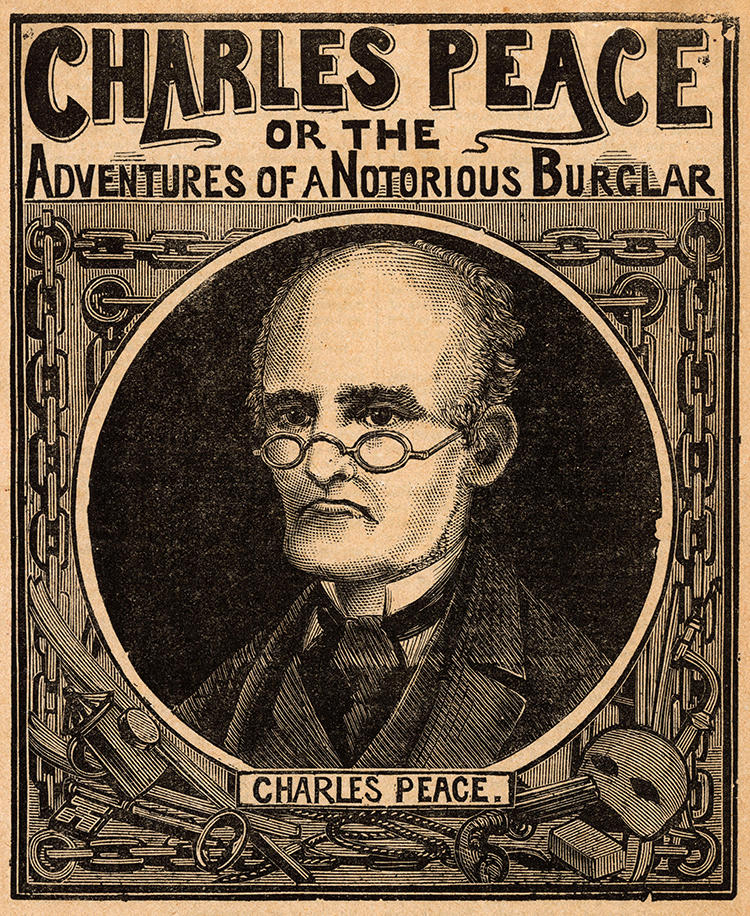 Frontispiece of Charles Peace, or the Adventures of a Notorious Burglar, 1879.