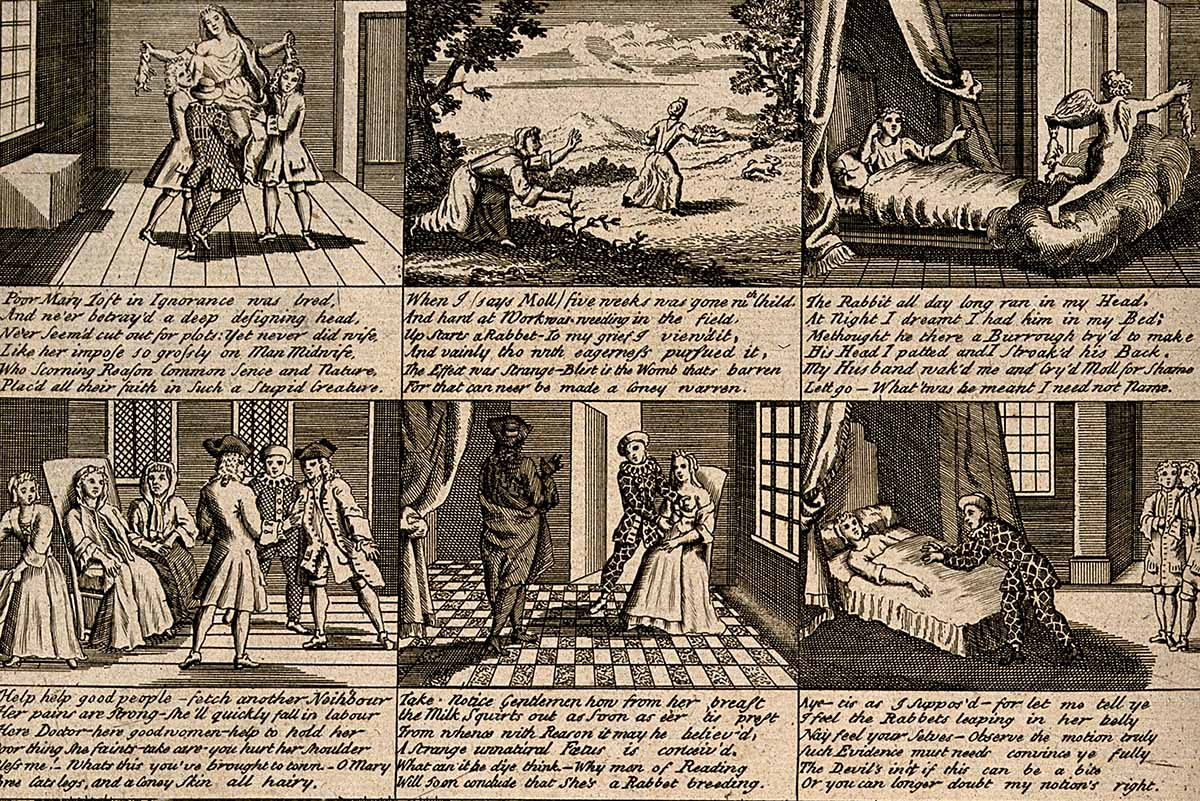 The Doctors in Labour; or a New Whim Wham from Guildford, engraving, 1726. Wellcome Images.