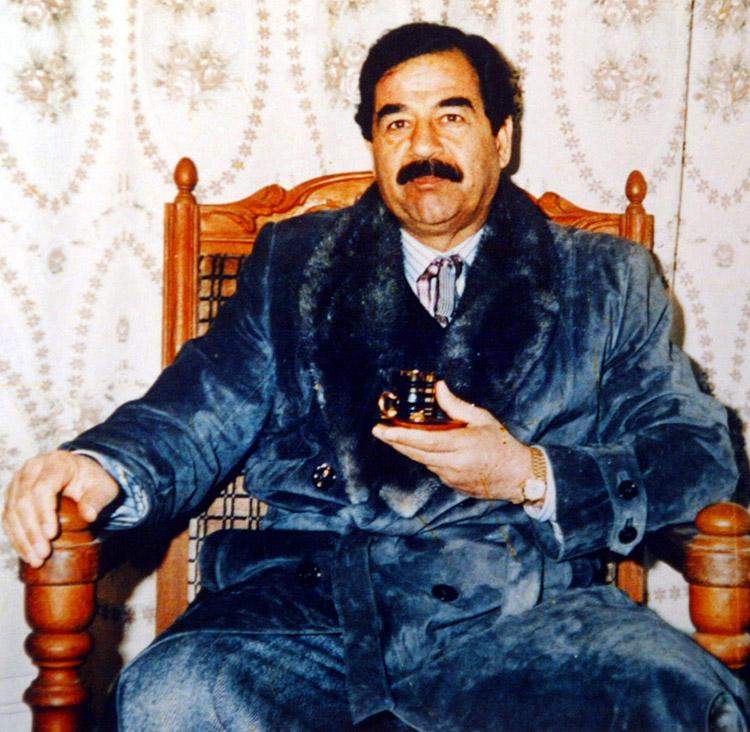 Sunni minority: Iraqi President Saddam Hussein, 2003.
