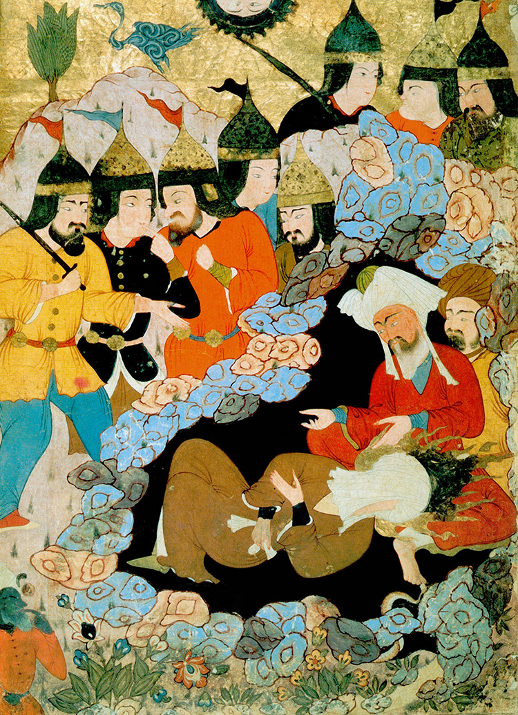 Muhammad and Abu Bakr, 17th century.