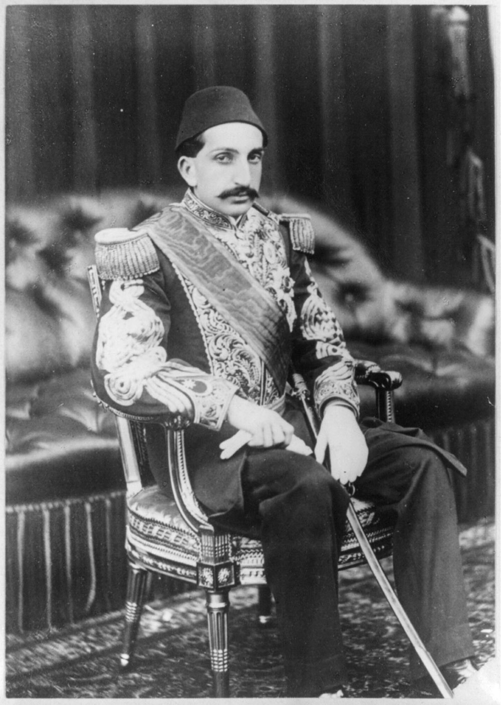 Abdulhamid II at Balmoral Castle in 1867.