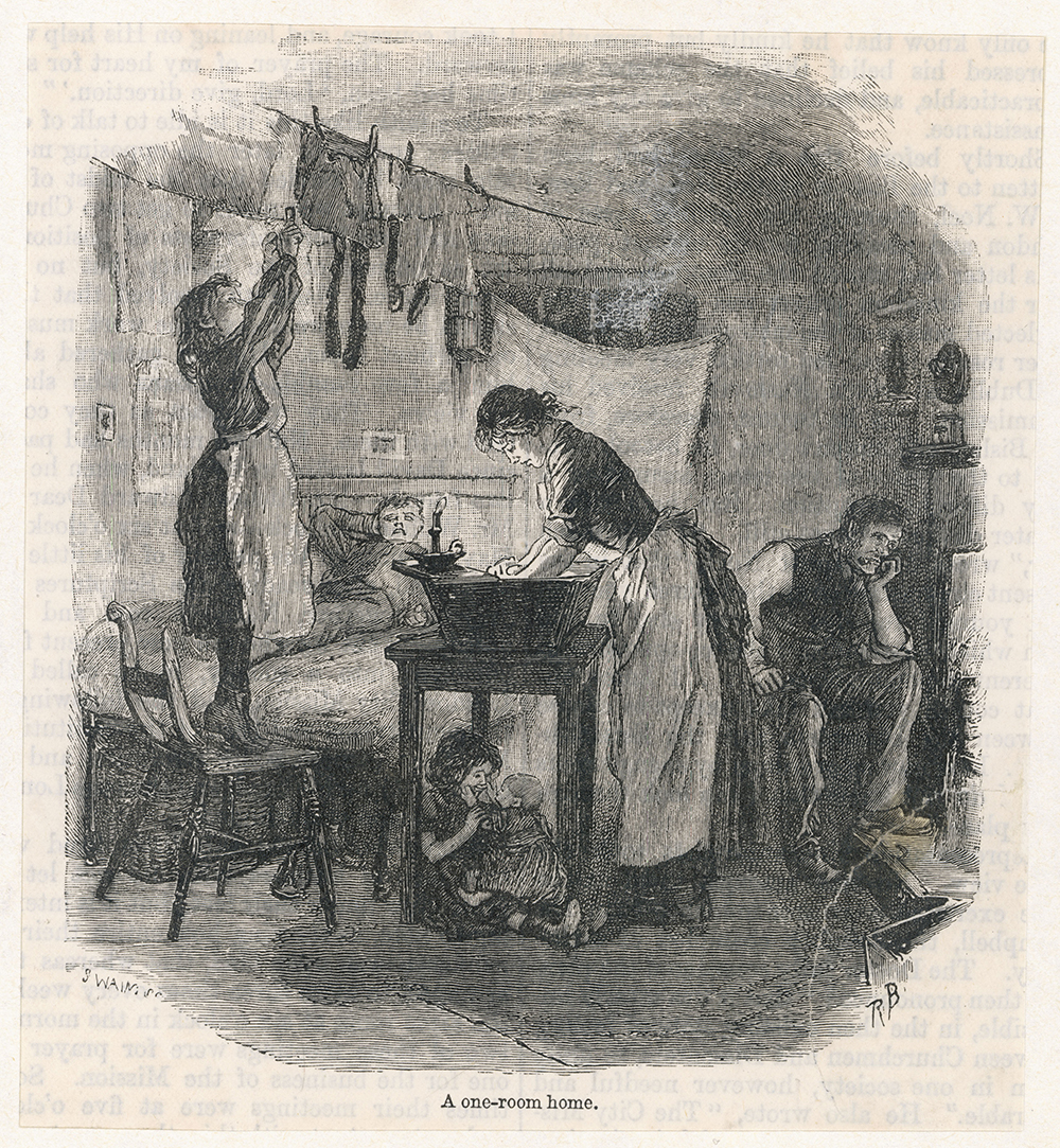 One Room Slum, 1891. Chronicle / Alamy Stock Photo