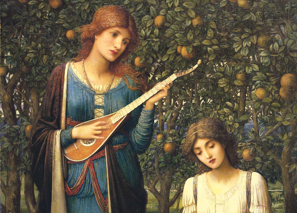 'When apples were golden and songs were sweet but summer had passed away', John Melhuish Studwick, 1906 © Bridgeman Images.