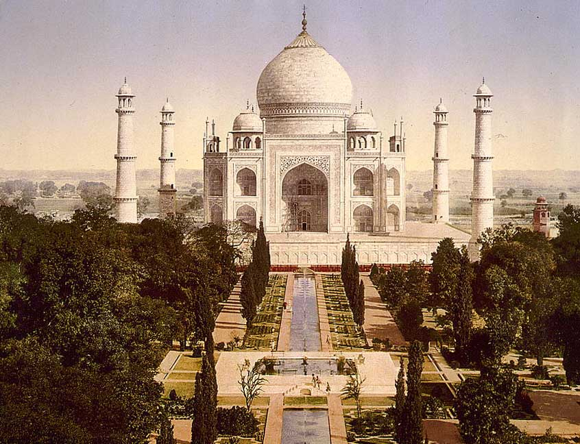 Agra, Taj Mahal. Photochrom, c.1890. Library of Congress.
