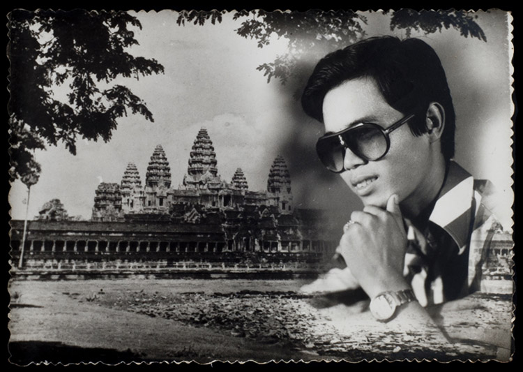Combination printing of  a portrait and landscape of Angkor Wat, 1985.