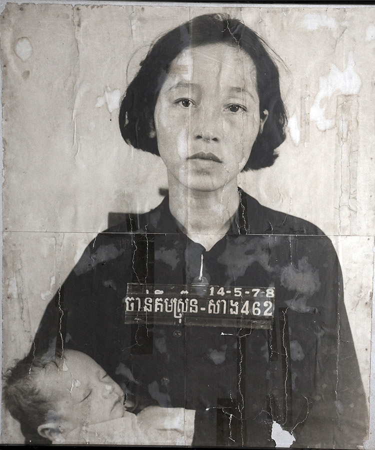 Unknown victim of the Khmer Rouge, Tuol Sleng museum and former prison and torture chamber, Phnom Penh.