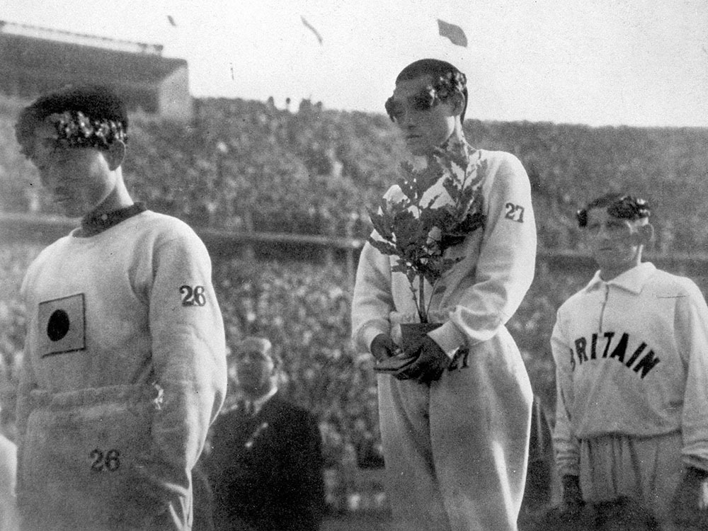Sohn Kee-chung wins gold at the 1936 Olympics. © Alamy
