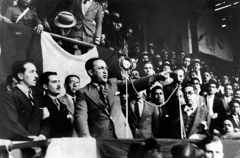 Víctor Raúl Haya de la Torre, founder of APRA, as a candidate in the Peruvian presidential election, 22 November 1933. (Getty Images)