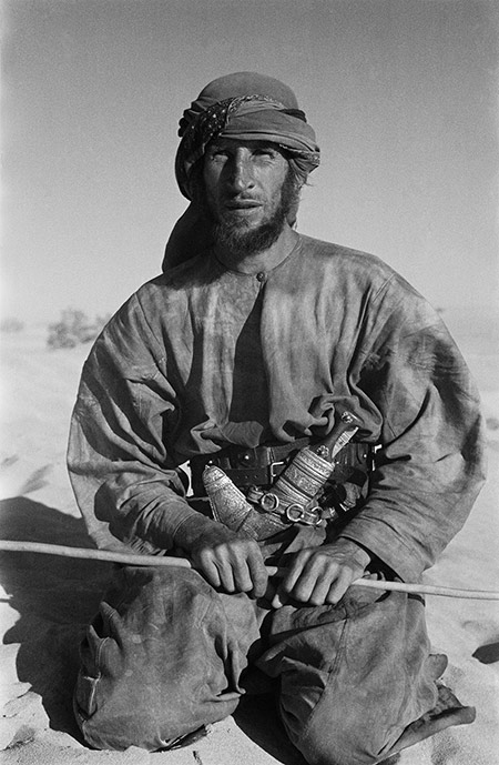 Wilfred Thesiger during his journey across Arabia's Empty Quarter, March 1948.