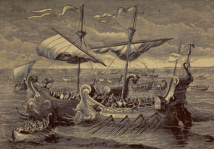 The Battle of Actium, Edward Shippen, 1883.