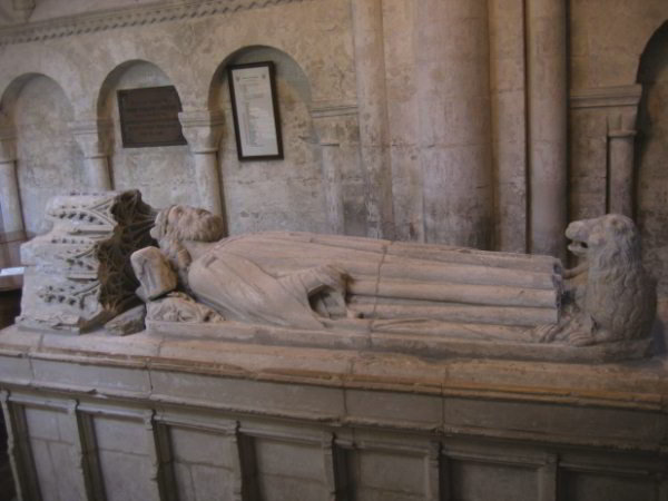 Æthelstan's tomb at Malmesbury Abbey, photographed by the author