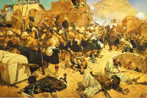 92nd Highlanders at Kandahar. Oil by Richard Caton Woodville