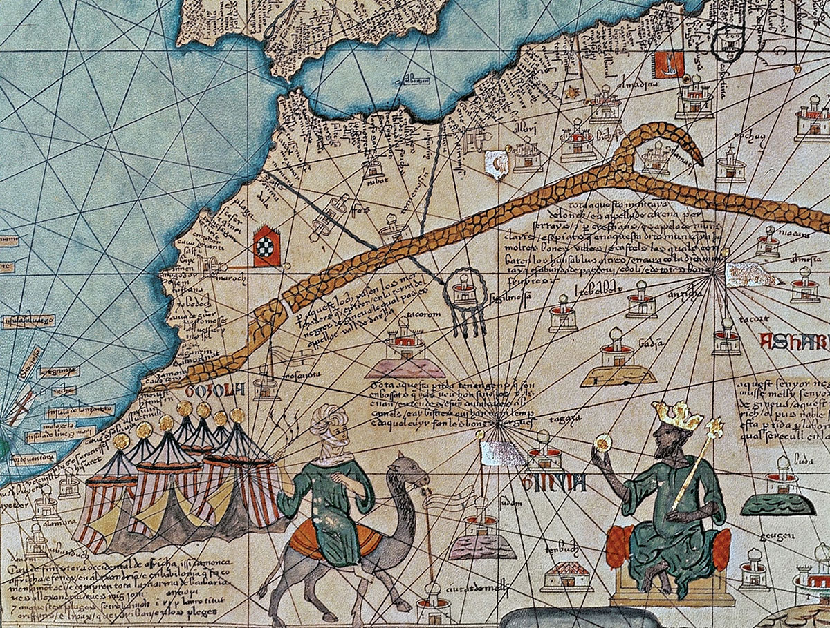The Catalan Atlas (detail) by Abraham Cresques, 1375.