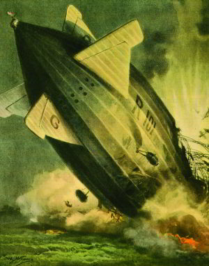 The R101 crashes at Beauvais, October 5th, 1930