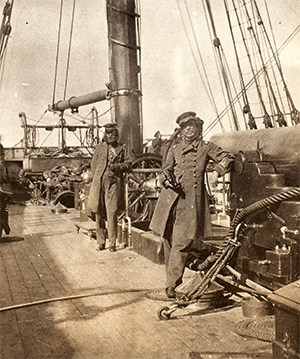 Captain Raphael Semmes (left) and Commander John McIntosh Kell on board the 'Alabama', 1863. Getty Images/Archive Photos/George Eastman House