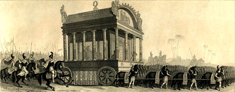 19th century depiction of Alexander's funeral procession based on the description of Diodorus