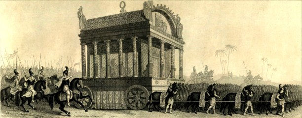 Nineteenth century depiction of Alexander's funeral procession based on the description of Diodorus