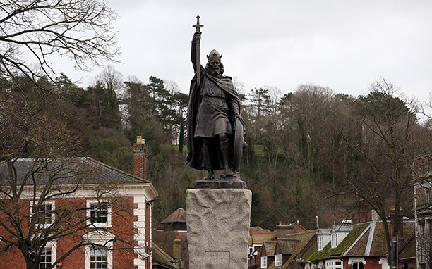 Statue of Alfred the Great in Winchester. Getty/Matt Cardy