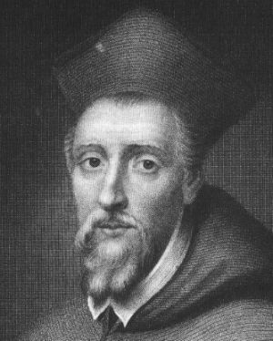 A portrait of William Allen. He set up a seminary at Douai in 1568 to train missionary priests to reconvert England