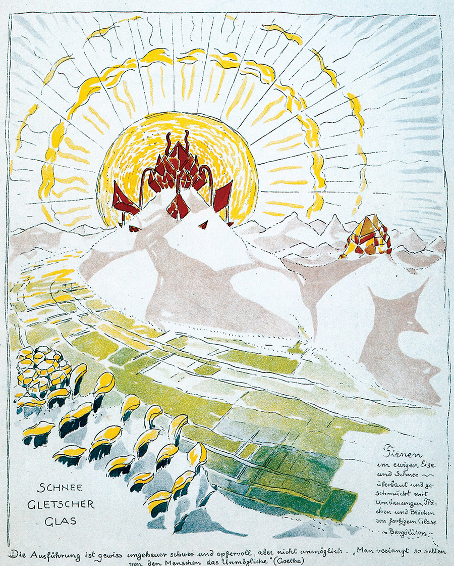 From Alpine Architecture, Bruno Taut, 1919.