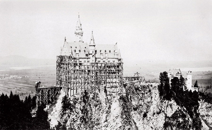 Neuschwanstein under construction, 1880.