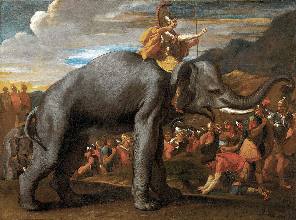 Hannibal Crossing the Alps on an Elephant, Nicolas Poussin, c.1625.