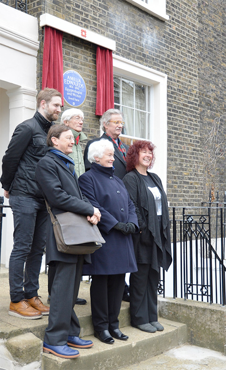 L-R: Dr Chris Naunton, (Director of the Egypt Exploration Society), Prof Geoffrey Martin, Prof Sir Christopher Frayling (English Heritage),Chis Elliott, Dr Margaret Mountford, Prof Joann Fletcher.