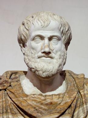 Marble bust of Aristotle. Roman copy after a Greek bronze original by Lysippus c. 330 BC