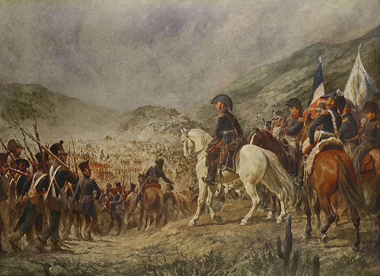 The Battle of Chacabuco by Pedro Subercaseux, 19th century. © Bridgeman Images