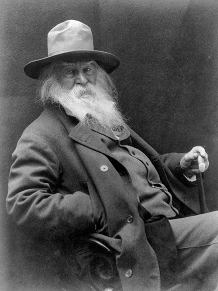 Walt Whitman, 1887. Copyright Alamy
