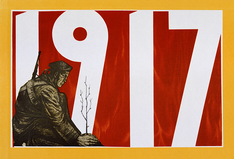 Decisive year: a Soviet propaganda poster, c.1917. © Heritage Images/akg-images.