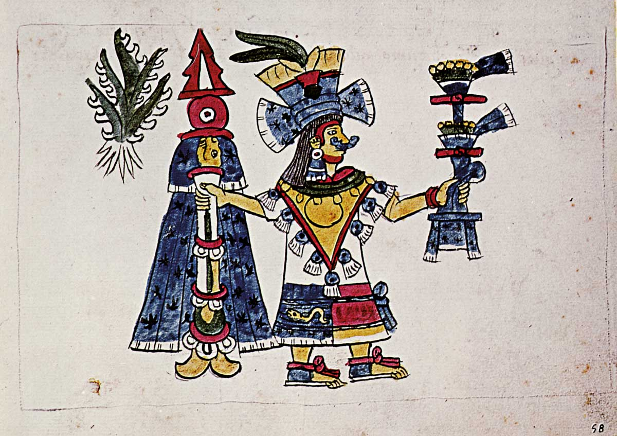 The goddess Mayahuel, depicted in the Codex Magliabechiano, 16th century © Bridgeman Images.
