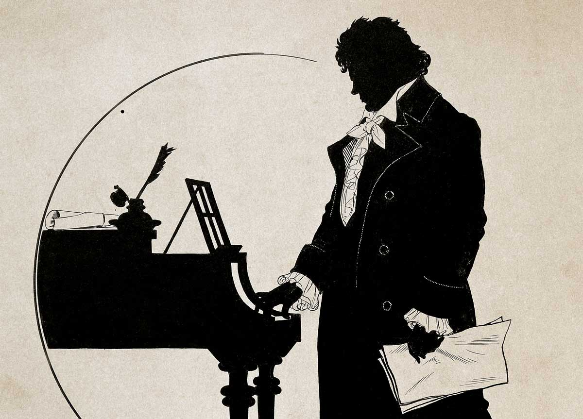 Silhouette of Beethoven, by Schlipmann, 1903 © Getty Images.
