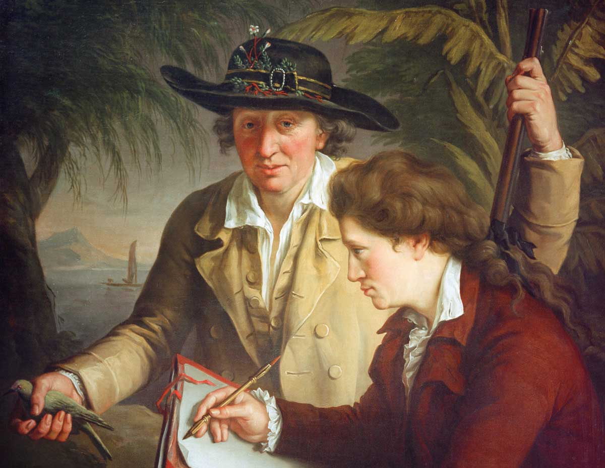 Johann and Georg Forster in Tahiti (detail), by John Francis Rigaud, c.1780 © akg-images.