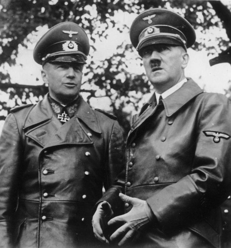 Walther von Brauchitsch, Commander in Chief of the German Army, with Hitler in Warsaw, October 1939