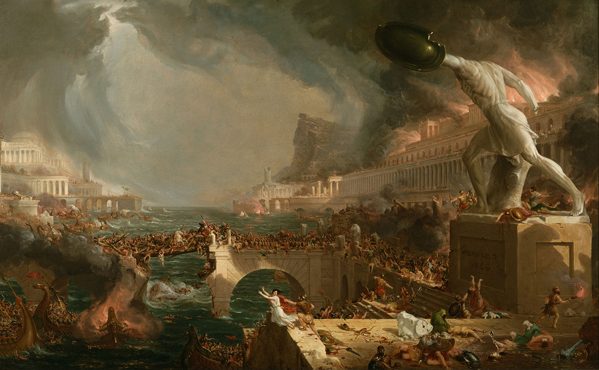 The Course of Empire: Destruction by Thomas Cole