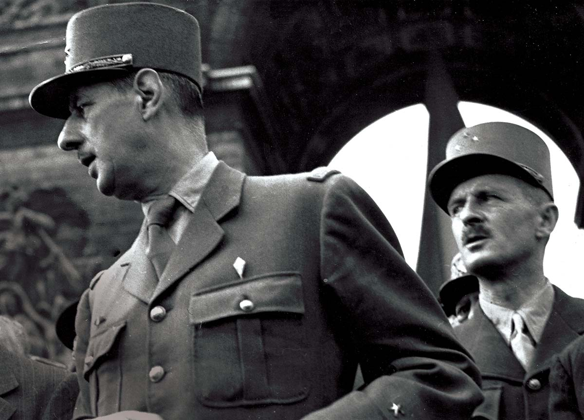 Charles de Gaulle and Philippe Leclerc during the Liberation of Paris, 1944 © Getty Images