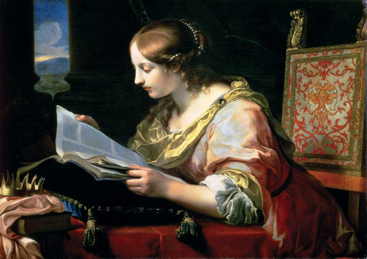 Saint of female learning: Catherine of Alexandria, by Onorio Marinari, c.1670 © Wallace Collection, London/Bridgeman Images