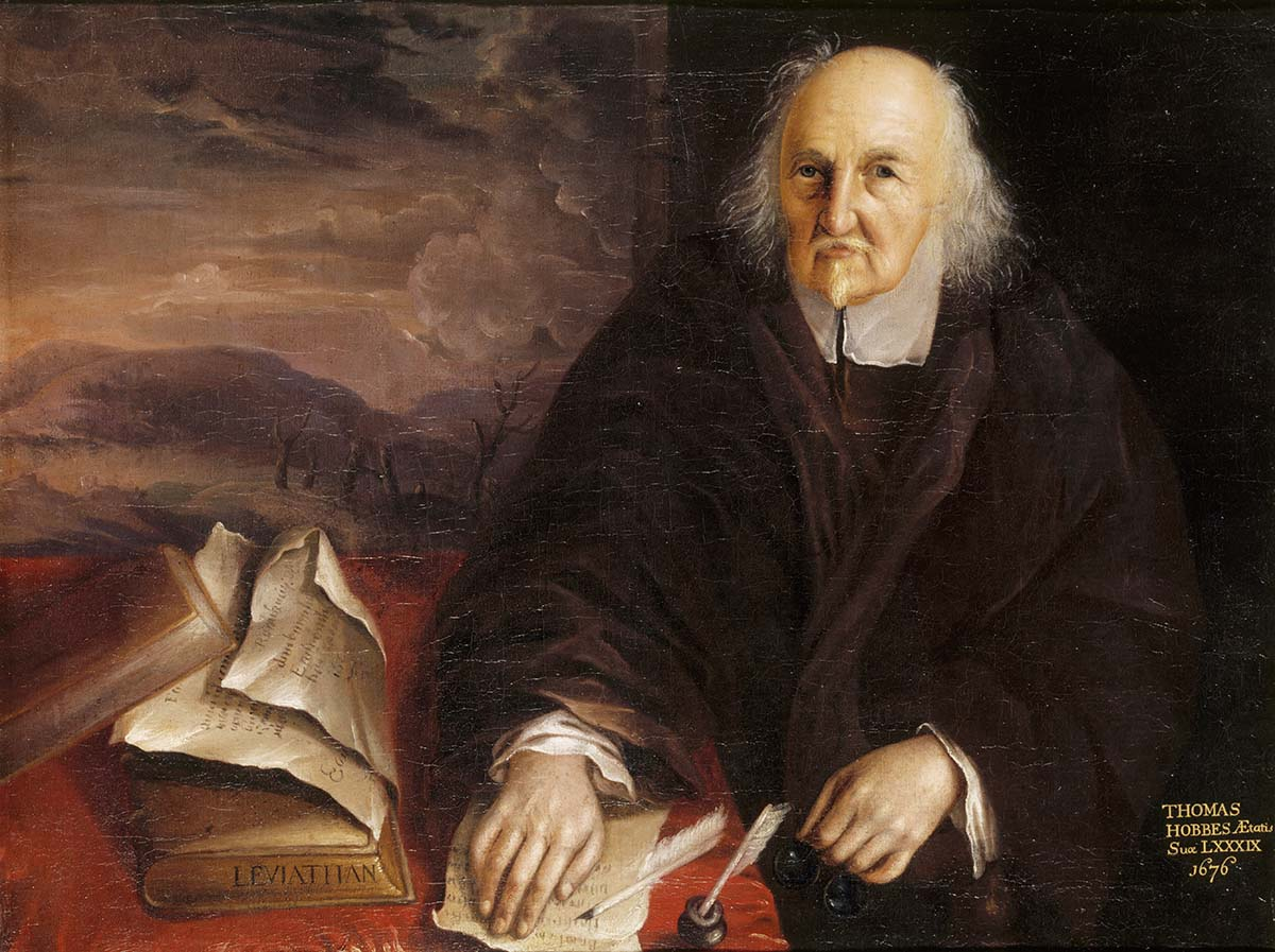 The philosopher Thomas Hobbes in 1676 Hardwick Hall, Derbyshire. English, 17th century.