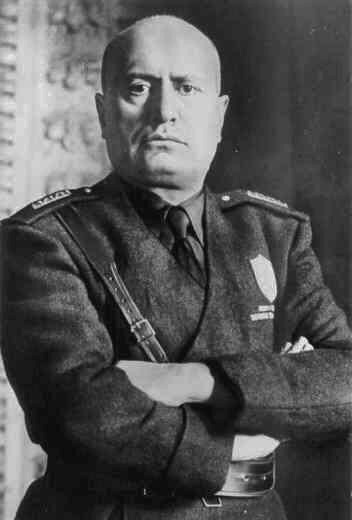 Portrait of Mussolini