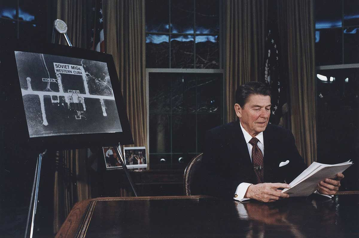 President Reagan Addressing the Nation on National Security (SDI Speech), 23 March 1983. National Archives and Records Administration.