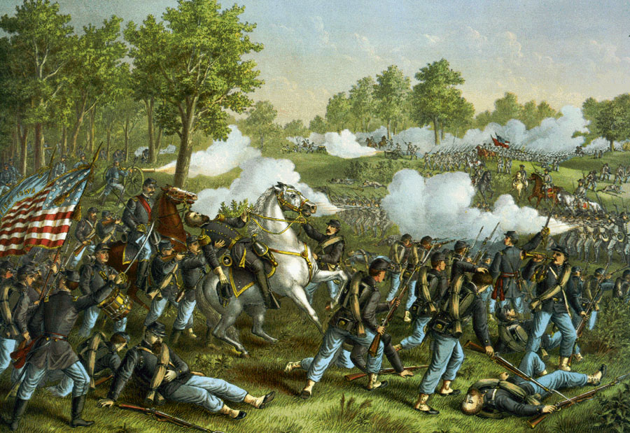 Battle of Wilson's Creek, 10th August, 1861 (c.1893)